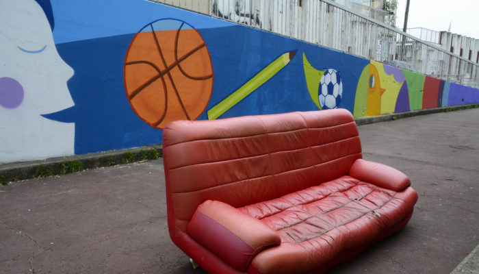 sofa in the street