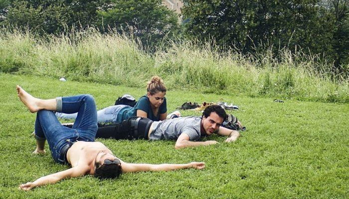 jeunes au parc