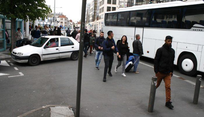 sortie du bus